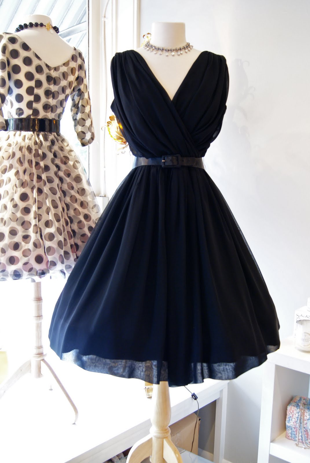 Retro Black Dress